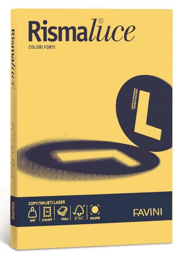 CARTA A4 21x29 200g 125fg 1pz RISMALUCE GIALLO SOLE FAVINI