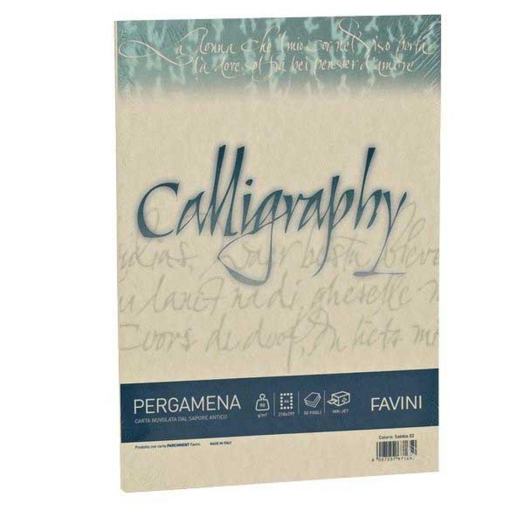 CARTA CALLIGRAPHY A4 50FG 90GR CREMA PERGAMENA