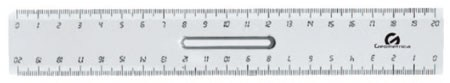 RIGA 20cm 20pz GEOMETRICA C/IMPUGNATURA RIGHELLO