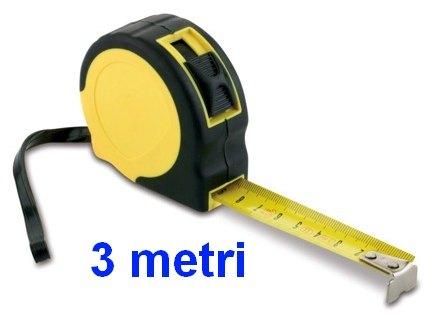 METRO ROTELLA 3mt ABS 1pz NASTRO FLESSIBILE
