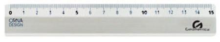 RIGA 15cm METALLO 24pz   GEOMETRICA RIGHELLO