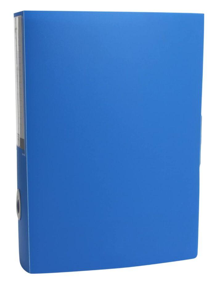 CARTELLA CON BOTTONE PPL PLASTICA D.08cm U208 1pz BLU
