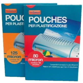 POUCHES PER PLASTIFICATRICI POUCHES 75X105 100pz 125 MICRON