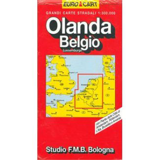 MAPPA STRADALE OLANDA/BELGIO V8 1pz