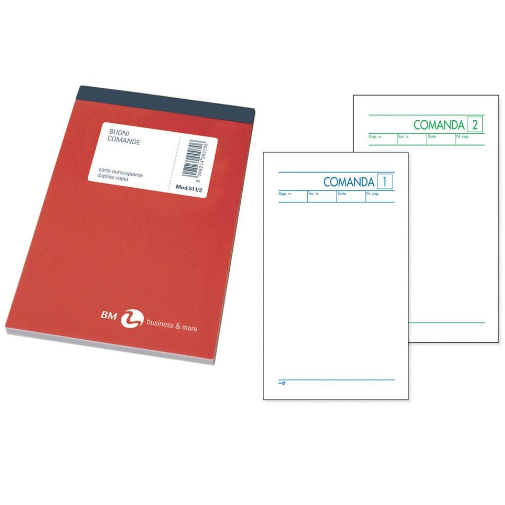 COMANDE RISTORANTE 10x17cm 25 FOGLI 2 COPIE CON CARTA CHIMICA 10pz