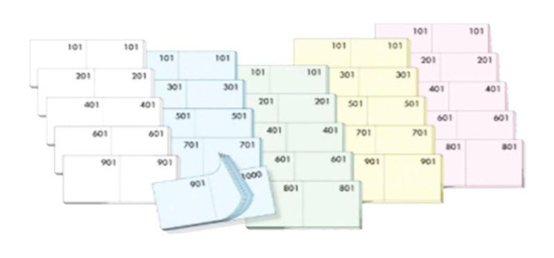 BLOCCO RICEVUTA SCONTRINI NUMERATI (1-1000) 13x6cm 1pz BIANCO