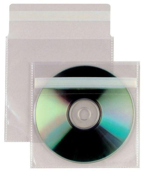 CD BUSTA PLASTICA 25pz ADESIVA CON PATELLA