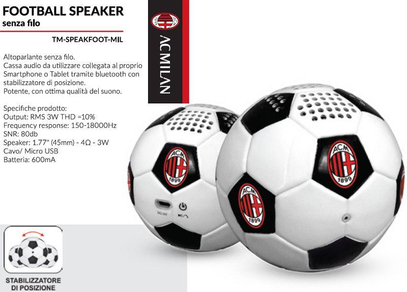 SPEAKER FOOTBALL MILAN 1pz UNIVERSALE - TECHMADE