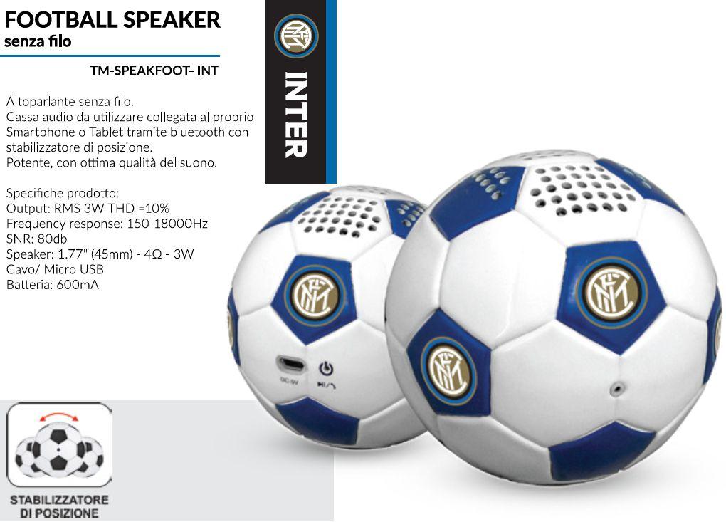 SPEAKER FOOTBALL INTER 1pz UNIVERSALE - TECHMADE