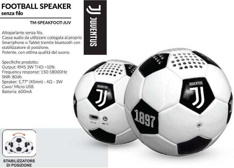 SPEAKER FOOTBALL JUVENTUS 1pz UNIVERSALE - TECHMADE