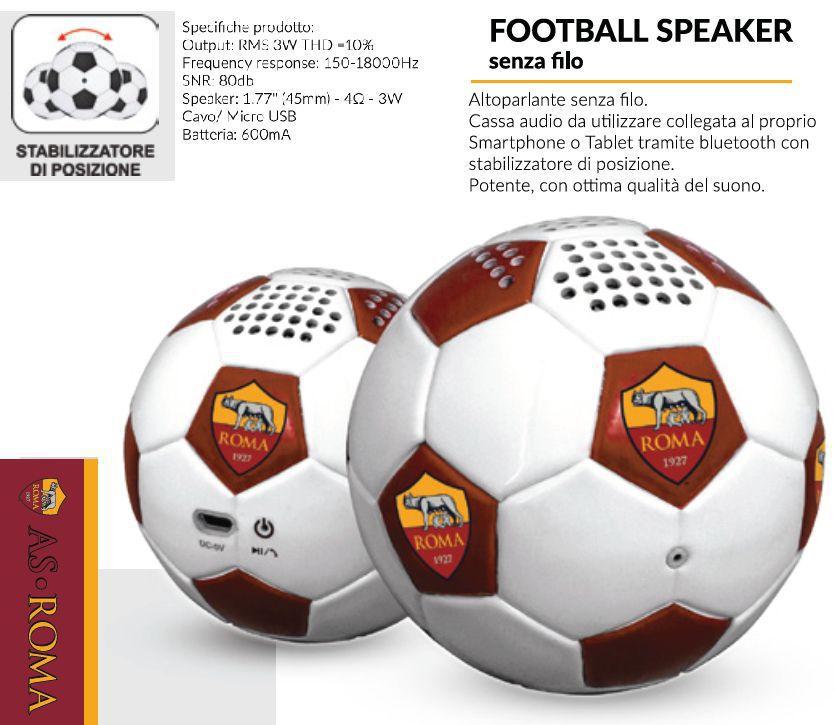SPEAKER FOOTBALL ROMA 1pz UNIVERSALE - TECHMADE