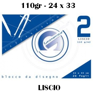 ALBUM DISEGNO 24x33cm 20FG LISCIO 110g 10pz - GEOMETRICA