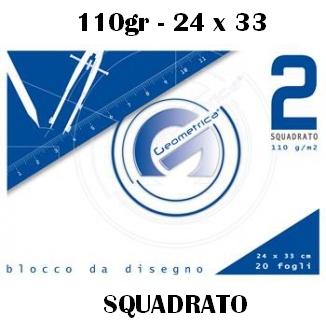 ALBUM DISEGNO 24x33cm 20FG RIQUADRATO 110g 10pz - GEOMETRICA