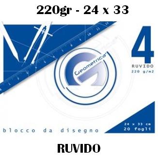 ALBUM DISEGNO 24x33cm 20FG RUVIDO 220g 5pz - GEOMETRICA