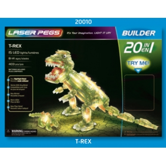 GIOCHI COSTRUZIONE T-REX 403 PZ 15 LED