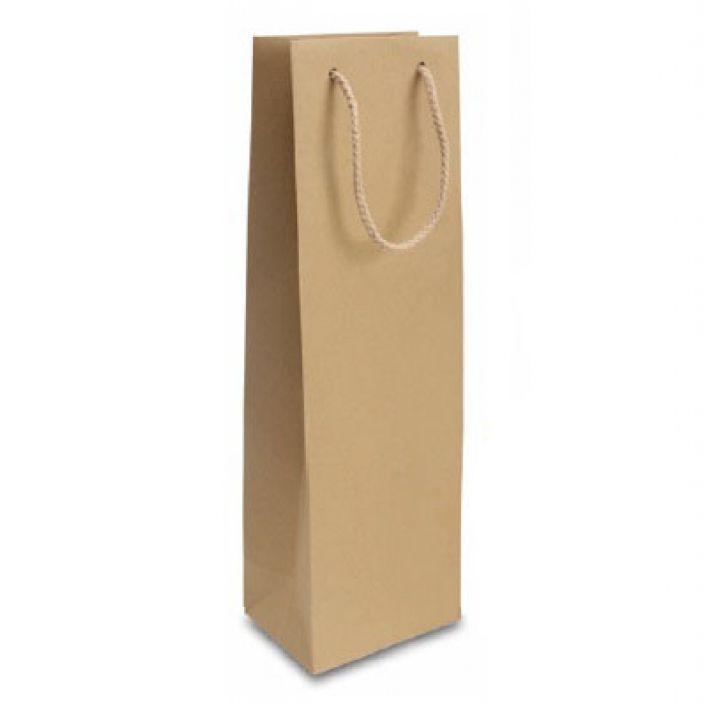 BORSA SHOPPER BOTTIGLIA 12x39 + 9cm 12pz KRAFT NATURE