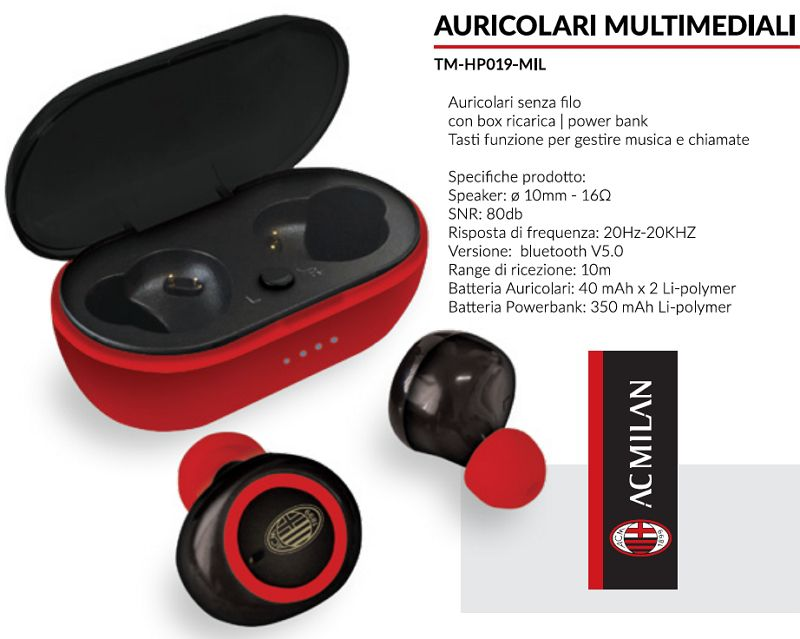 AURICOLARI CUFFIE WIRELESS 1pz MILAN - TECHMADE