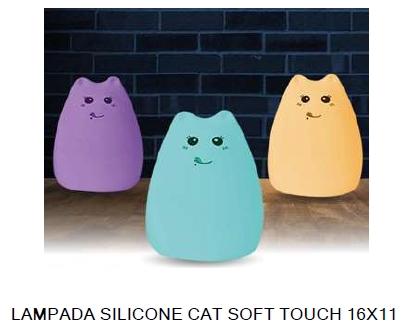 LAMPADA SILICONE CAT SOFT TOUCH 16X11cm 1pz