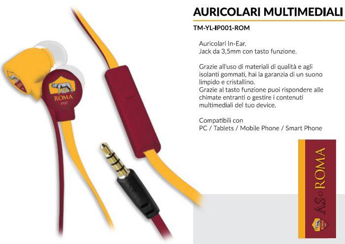 AURICOLARI CUFFIE CON MICROFONO 1pz ROMA - TECHMADE