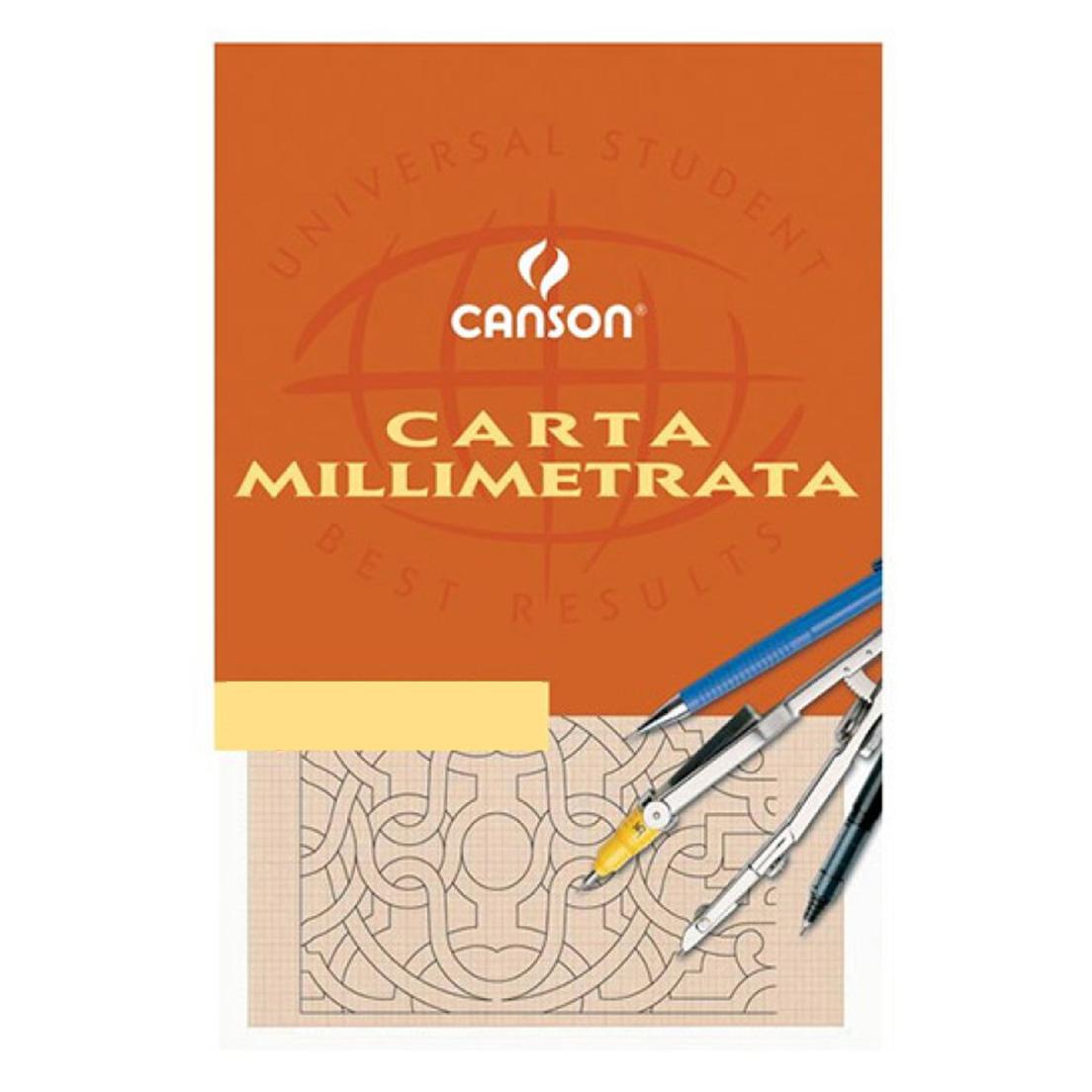 CARTA MILLIMETRATA 23x33cm 10 FOGLI 25pz