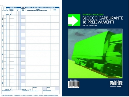MODULI ACQUISTI CARBURANTE A5 5PZ 13FG A BLOCCO