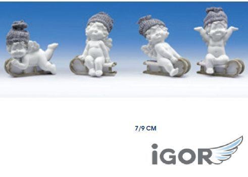 ANGELO IGOR SINGOLO H7/9cm 1pz SLITTA E CUFFIA GRIGI