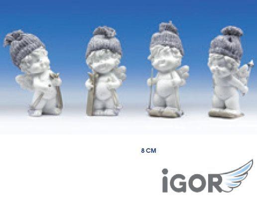 ANGELO IGOR SINGOLO 8cm 1pz SCI E CUFFIA GRIGIA