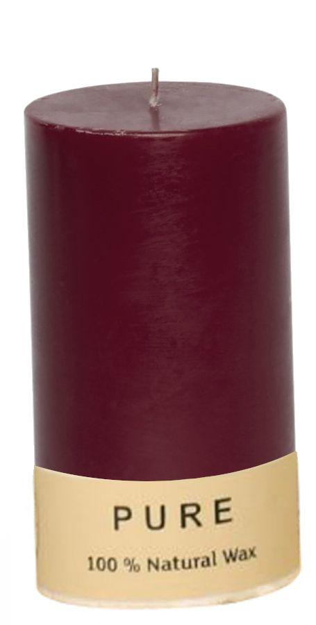 CANDELA SAFE CANDLE 130/70mm 1pz CERA NATURALE BURGUNDY