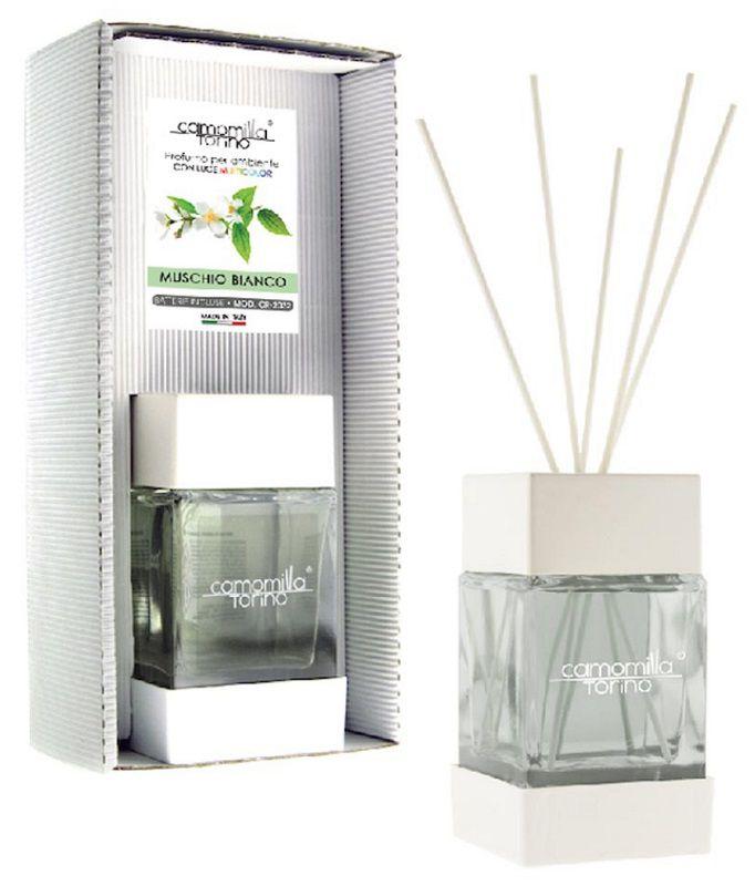 PROFUMATORE CUBOLED ESSENZA MUSCHIO BIANCO 200ML C/BASTONCINI