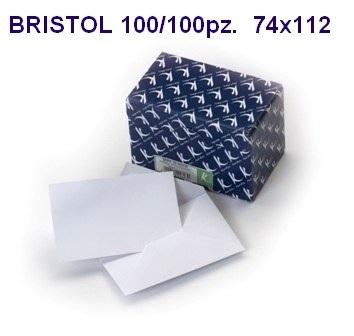BIGLIETTI BRISTOL DA VISITA 74x112mm 100 BUSTA + 100 FOGLI 1pz