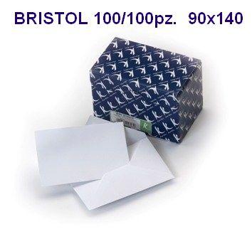 BIGLIETTI BRISTOL DA VISITA 90x140mm BLISTER 100 BUSTA + 100 FOGLI