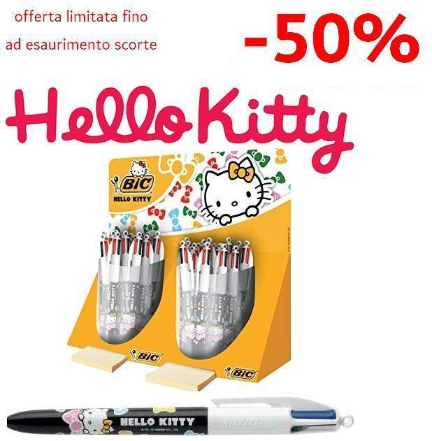 PENNA SFERA BIC 4colori HELLO KITTY 40pz EXPO