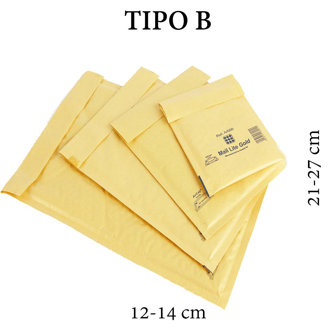 BUSTA IMBOTTITA SACBOLL B-2 12x20cm F.TO UTILE 10pz (BIB)