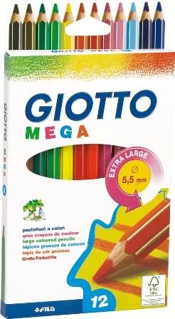 PASTELLI GIOTTO MEGA 9mm 12 colori 1pz