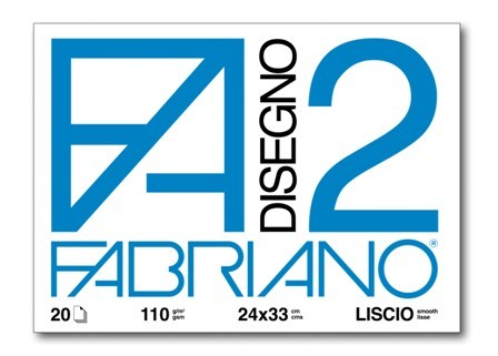 ALBUM DISEGNO FABRIANO FA2 20 FOGLI 110g 24x33cm LISCIO 10pz