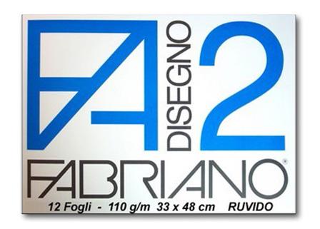 ALBUM DISEGNO FABRIANO FA2 12 FOGLI 110g 33x48cm RUVIDO 10pz