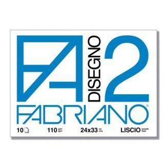 ALBUM DISEGNO FABRIANO FA2 10 FOGLI 24x34cm 10pz LISCIO - FOGLI A STRAPPO