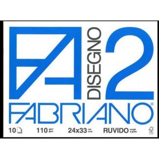 ALBUM DISEGNO FABRIANO FA2 10 FOGLI 24x34cm RUVIDO 10pz - FOGLI A STRAPPO