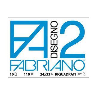 ALBUM DISEGNO FABRIANO FA2 10 FOGLI 24x34cm 10pz RIQUADRATO - FOGLI A STRAPPO