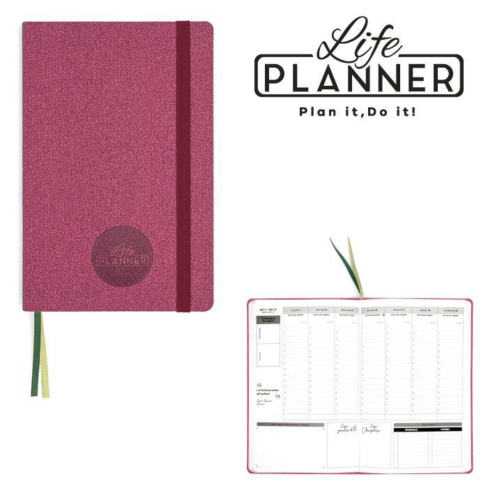 AGENDA A 12mesi Big 1pz Rose Pink LIFE PLANNER