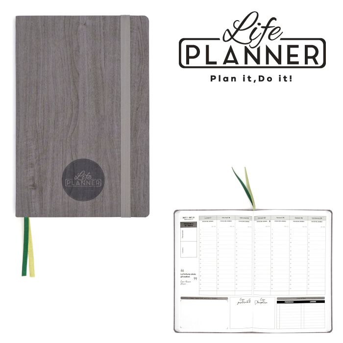 AGENDA A 12mesi Big 1pz Forest wood LIFE PLANNER