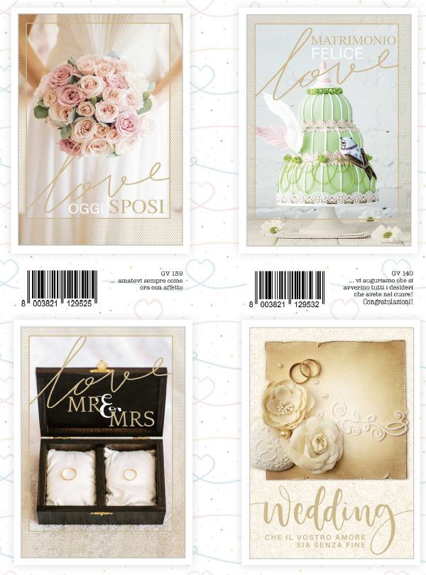 BIGLIETTI MARPIMAR MATRIMONIO WEDDING DAY 12pz - 09/2019