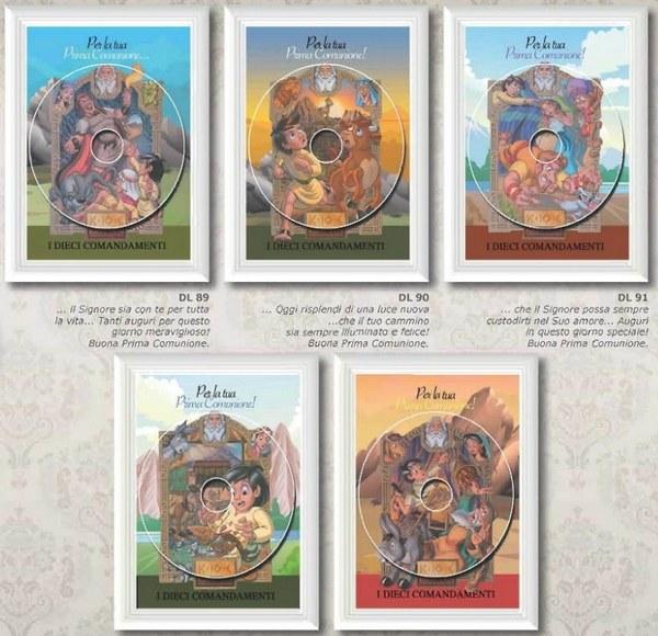 BIGLIETTI MARPIMAR COMUNIONE CON DVD 12 PZ.