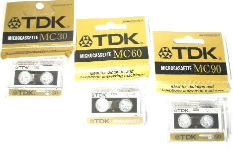 MICROCASSETTA TDK MC90 1pz
