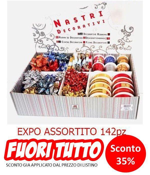 COCCARDE NASTRI STELLE EXPO DECORATIVO 142pz ASSORTITE