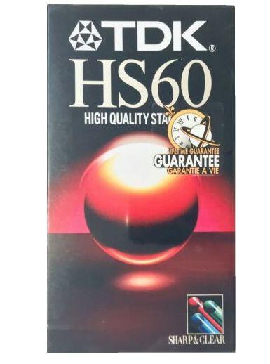 VIDEOCASSETTA VHS TDK HS60 1pz