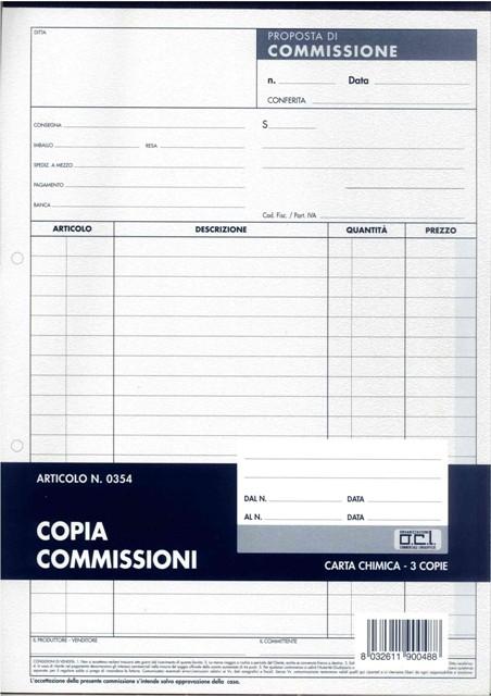 MODULI COPIA COMMISSIONI A4 1pz copie 50fg