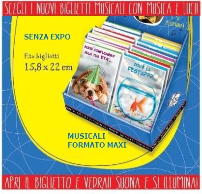 BIGLIETTI AUGURI MUSICALI 1pz 15,8x22cm MC.3892