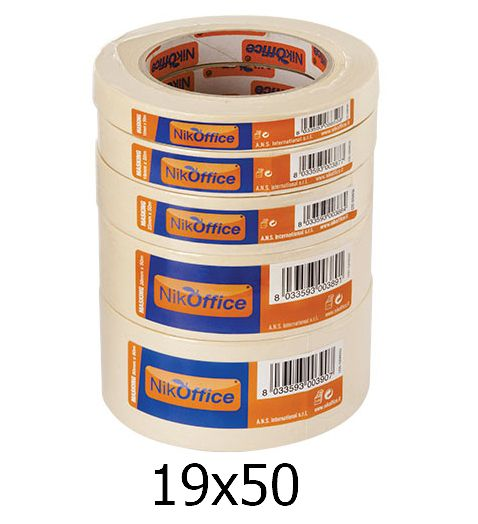 SCOTCH CARTA 19mm x 50mt CARTA NIKOFFICE 1pz