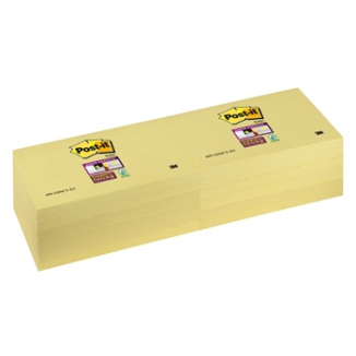 POST-IT 3M 655 12PZ 76X127 GIALLO SUPER STICKY